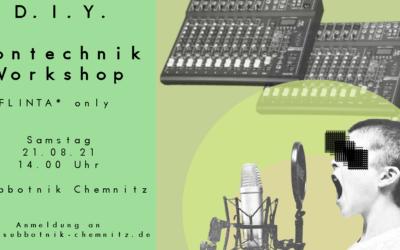 Tontechnik-Workshop FLINTA* only